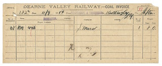 Dearne Valley Railway Coal Invoice 1914 | by ian.dinmore
