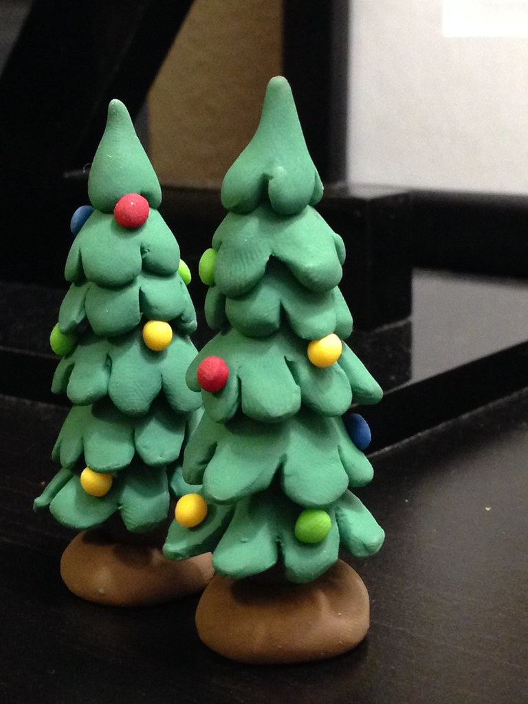 Polymer Clay Christmas Tree.Polymer Clay Christmas Trees Katie Hastings Flickr
