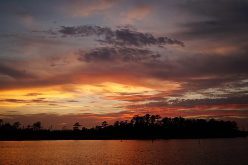 sunset usa clouds creek river nc northcarolina fairfieldharbour northwestcreek spectacularsunsetsandsunrises cloudsstormssunsetssunrises