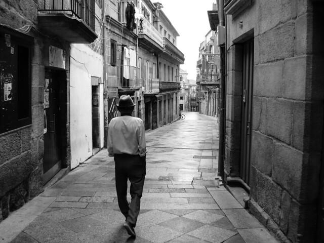 Walking alone... Vigo, Spain, 2014
