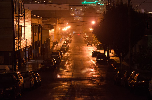 Near Holocene, in SW Portland, on a drizzly October evening.
