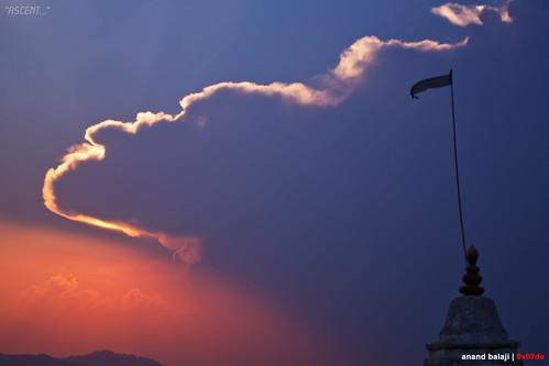 travel nepal sunset temple god stupa aspiration kathmandu rays godrays aspirational
