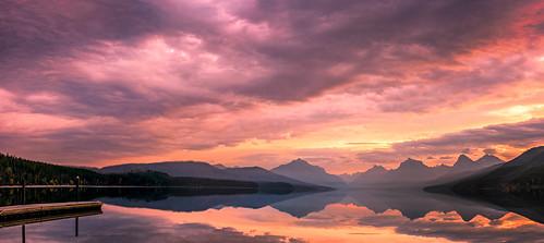 usa sun nature landscape places subject glaciernationalpark sunrises nationalparks lakemcdonald westglacier