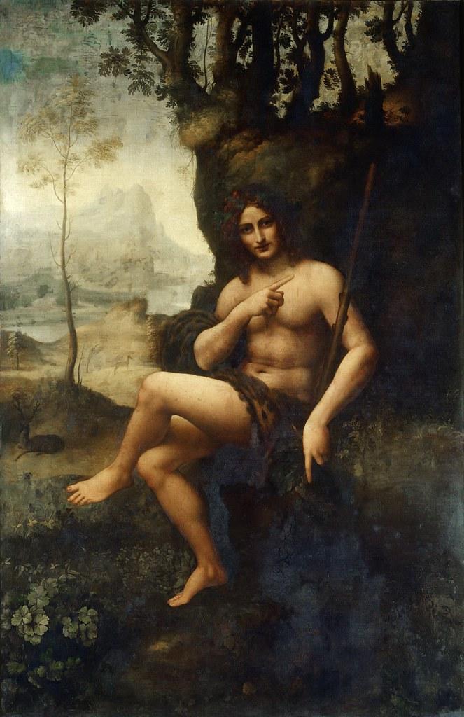 Workshop of Leonardo da Vinci, Bacchus. c. 1510-1515.