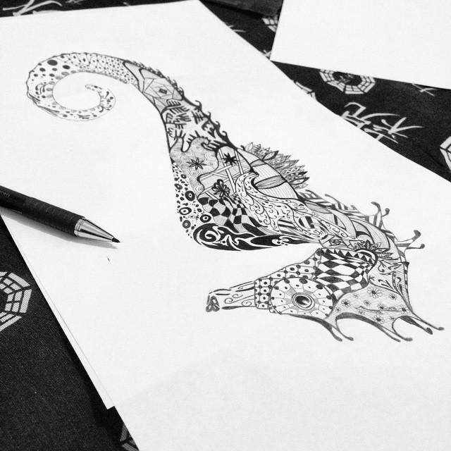 Draw Drawing Desenho Desenhos Lapis Cavalo Marinho Flickr