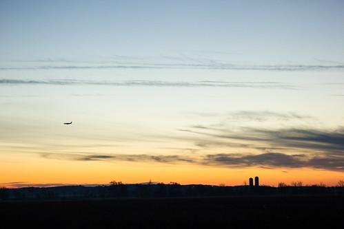 sky fall clouds plane sunrise automne soleil horizon champs ciel québec fields nuages avion 2014 levé mirabel