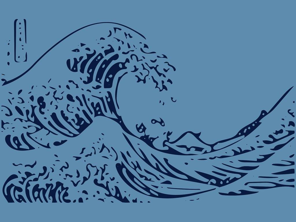 神奈川沖浪裏 Or The Great Wave Off Kanagawa Wallpaper 2