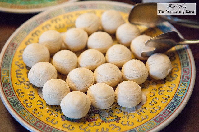 Longan cakes at Made in China's breakfast buffet