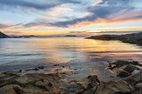sønstabø bømlo sunset stegavika stegavikjo sunnhordland norge norway solnedgong solnedgang vestlandet sea ocean clouds water nes