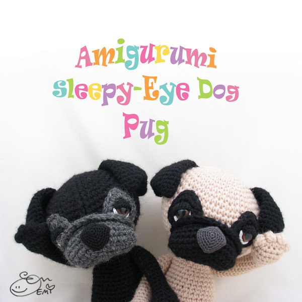 Baby Pug Dog amigurumi pattern - Amigurumi Today | 600x600