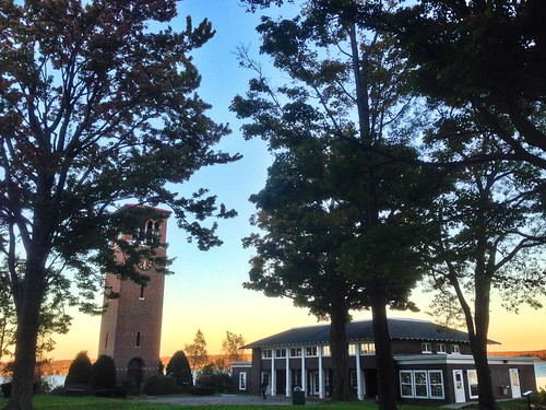autumn sunset lake water belltower wny chautauqua chautauqualake themillerbelltower