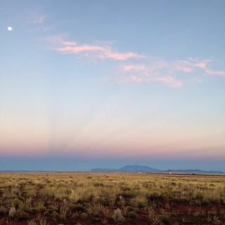 Moonset in the desert in Arizona. #arizona #airstream #airstreamdc2cali #vintageairstream