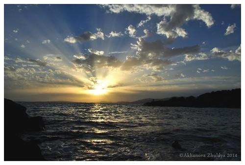 sunset sea seascape clouds reflections mediterranean mallorca balearicislands beautifulphotography nikond5000 akhanovazhuldyz