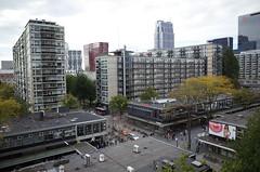Lijnbaan van boven, Rotterdam