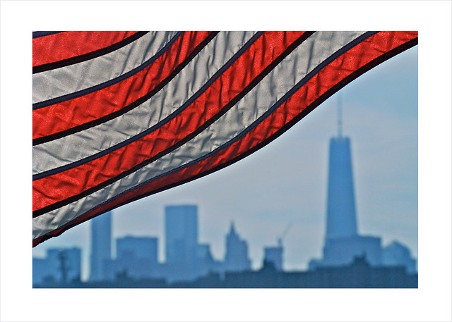 red, white and blue NYC
