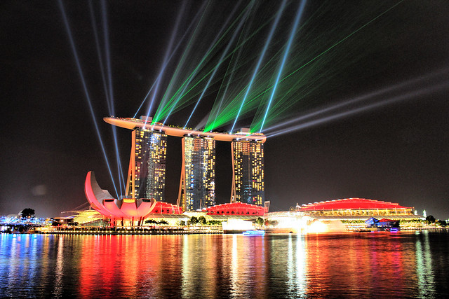 Marina Bay Sands lasers