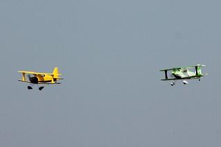 2x Multiplex Gemini r/c biplane