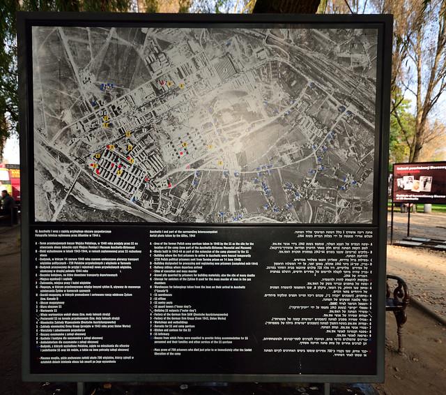 Auschwitz I and part of the surrounding Interessengebiet