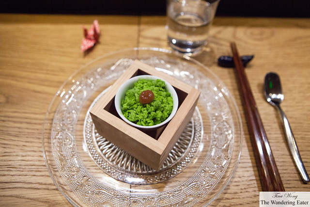 Frozen shiso topped with salted plum