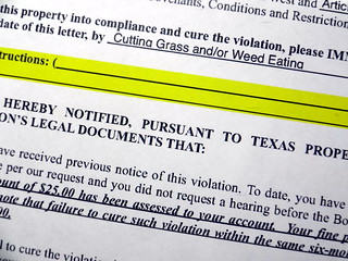 HOA Violation Notice | Violation notice from homeowners asso… | Flickr
