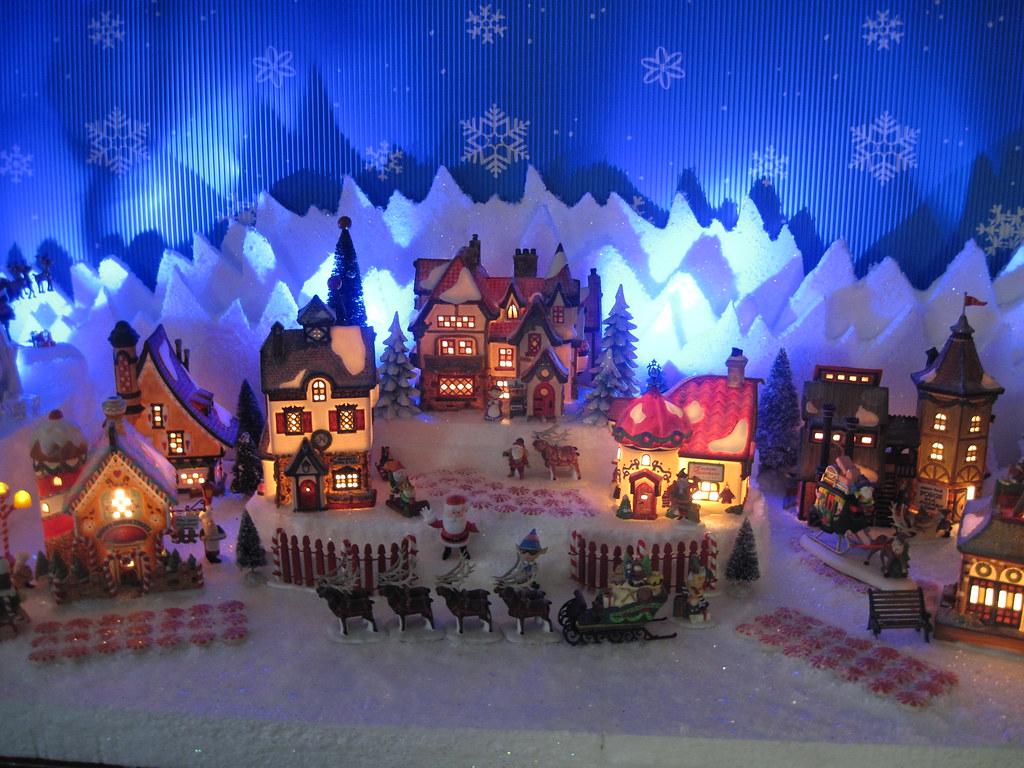 Department 56 Christmas Village Display.Dept 56 North Pole Christmas Village Display Halloween