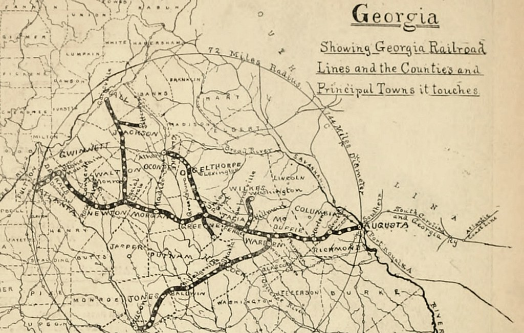 Railroad Map Of Georgia.Map Of The Georgia Railroad Routes In 1895 Source Of Photo Flickr