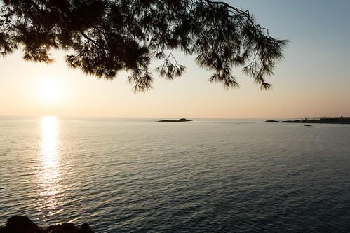 sunset beach pine island bay before