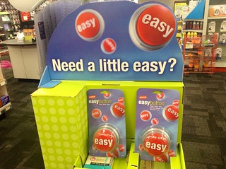 Staples Easy Button Display 10/2014, by Mike Mozart of TheToyChannel and JeepersMedia on YouTube #Staples #Easy #Button | by JeepersMedia