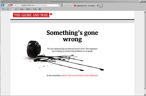 Globe and Mail's spilled ink | by Can Pac Swire