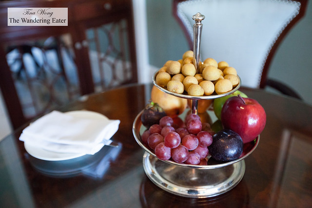 Welcome fruit at our Deluxe City View Room