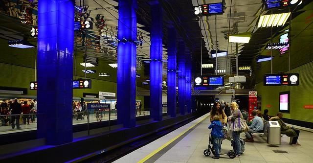 Munich - Münchner Freiheit subway station