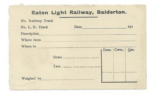 Eaton Light Railway wagon Label 1910 | by ian.dinmore