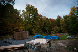 Hot Tub & Autumn Color on our Land | by goingslowly
