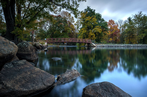 autumn bridge hdr lakeside rocks colorful pretty trees lake new jersey nj parsippany reflections water fall scenic landscape nature lakeparsippany rokinon 12mm gittersteigen engineering 2015 gittersteiger construction