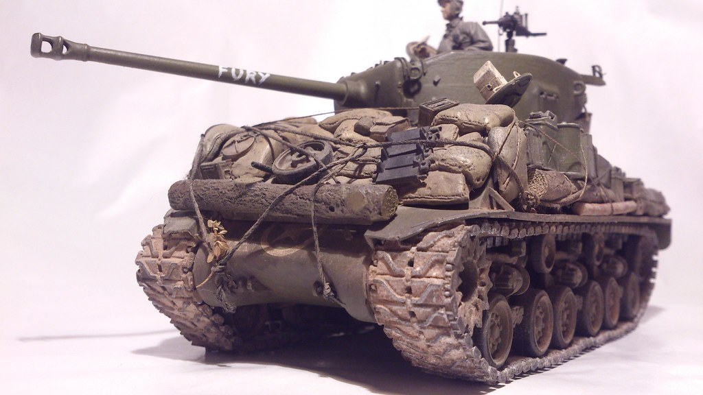 1/35 Sherman fury film | it had to be done after seeing the