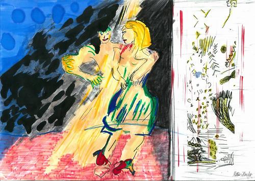 erstes erscheinen tanz | matthiashenzler.de | malerei