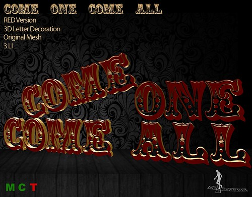 Come one come all RED