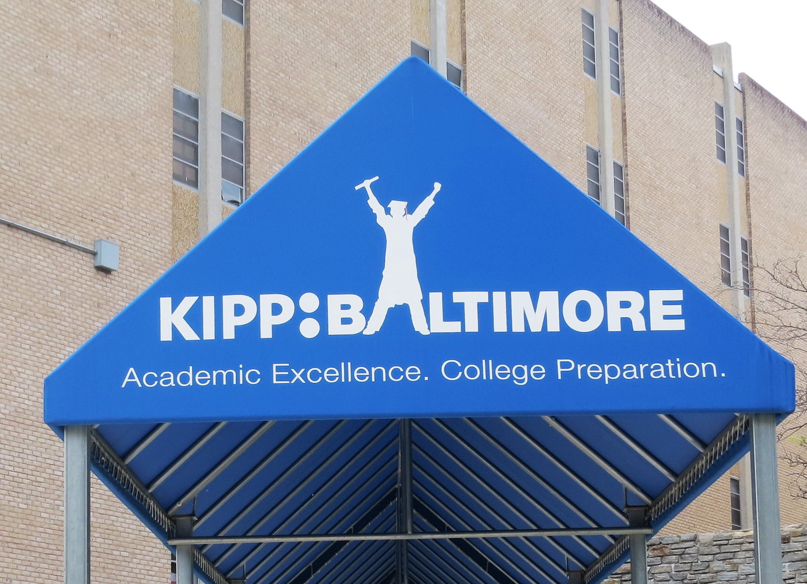 Graphics-Kipp Baltimore School Awning