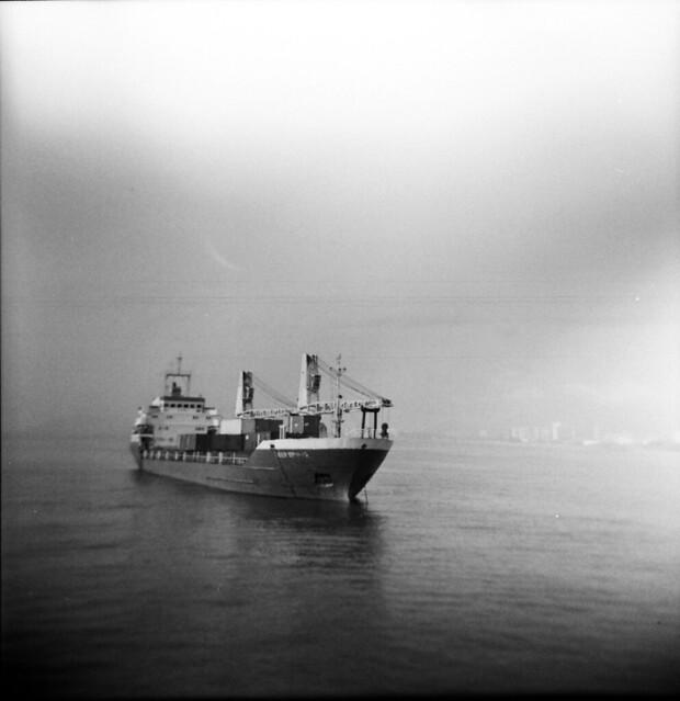 Calm Sea, Floating Ship