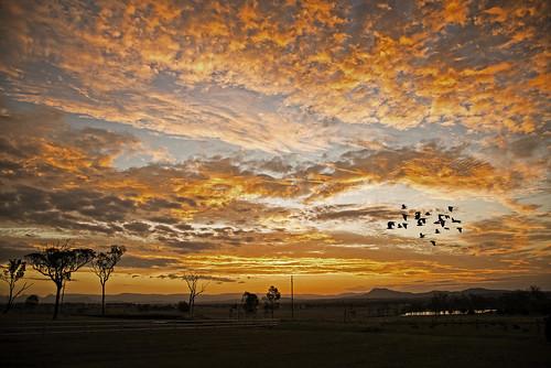 sunset landscape queensland middleroad peakcrossing nikond800