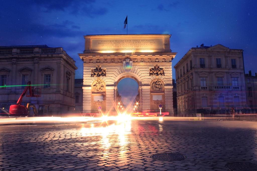 Montpellier's triumphal arch