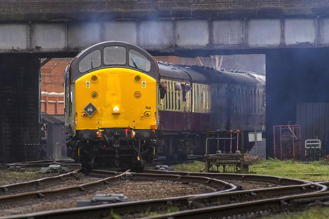 Class 37 No. 37714 'Cardiff Canton' at Loughborough