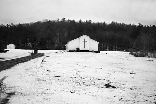 whitehall newyork snow church landscape