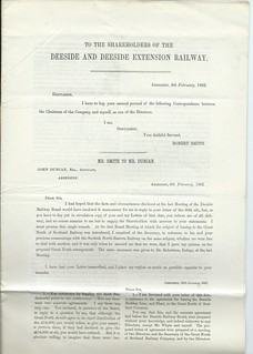 Deeside Extension Railway Notice to Shareholders 1862 | by ian.dinmore