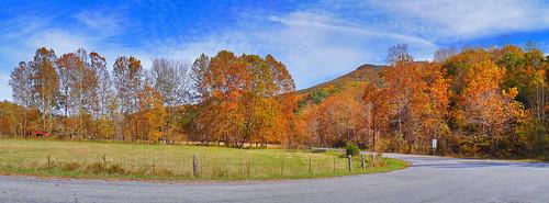road autumn panorama beautiful clouds landscape virginia us unitedstates farm fallfoliage va autumncolor 2014 rockbridgecounty