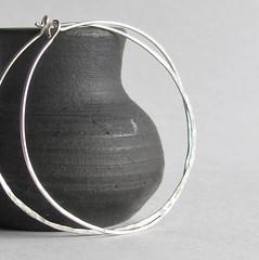 Simple Sterling Hoop Earrings