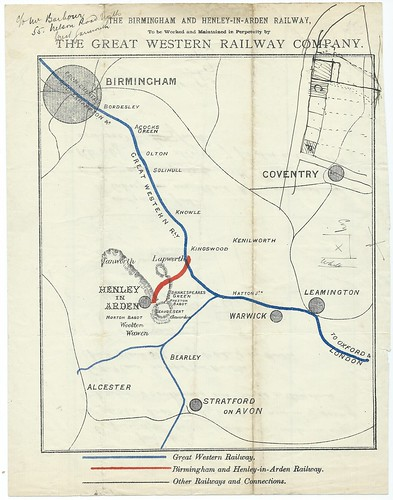 Birmingham and Henley-In Arden Railway Prospectus Map 1889 | by ian.dinmore