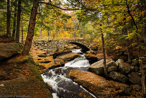 longexposure bridge autumn waterfall newhampshire foliage gleason hillsboro hillsborough