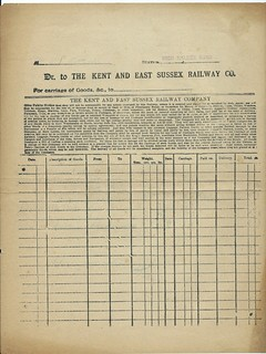 Kent and East Sussex Railway Waybill undated | by ian.dinmore