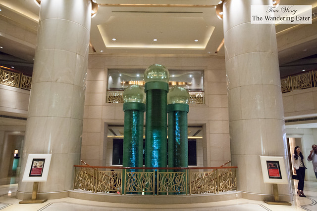 Water feature at the lobby
